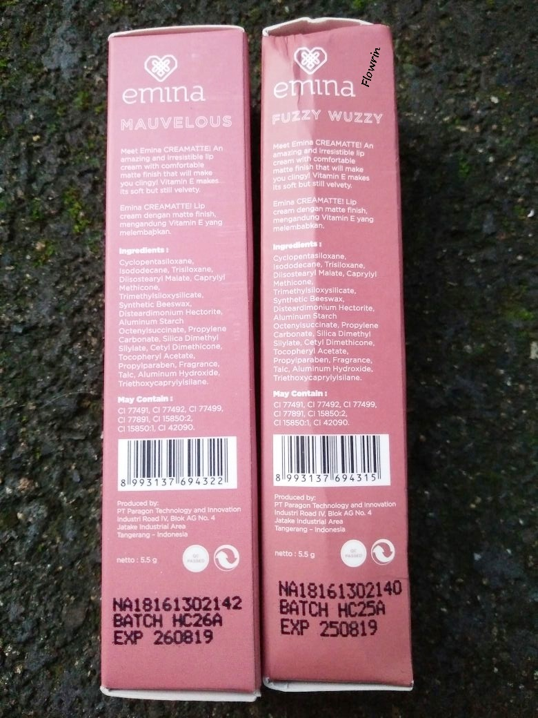 Flowrins Note Review Emina Creamatte In No2 Fuzzy Wuzzy No3 Cream Matte Lipstik Lipcream 03 Mauvelous Samping Dus