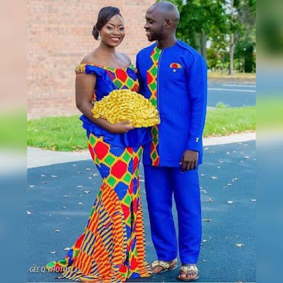 34 Latest Ghanaian Kente Dresses Styles For Engagement To Copy in 2019