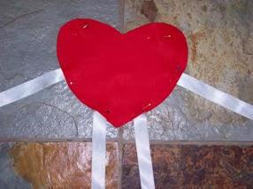 corazon de fieltro para regalar