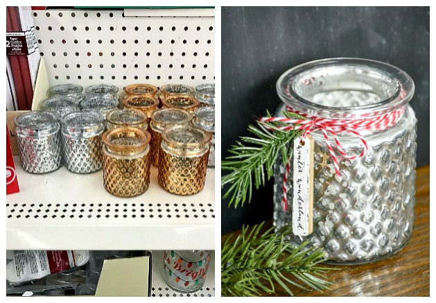 Dollar Tree glass votives