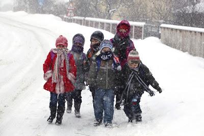 extrém hideg, extrém időjárás, figyelmeztetés, hófúvás, hóvihar, Románia, oktatás