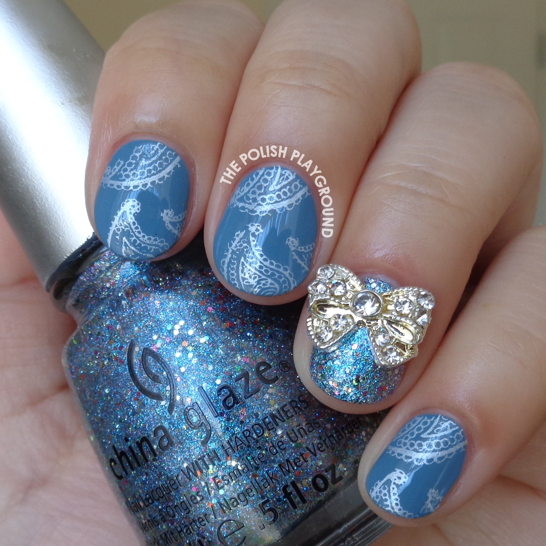 The Polish Playground: Blue And Silver Paisley Print