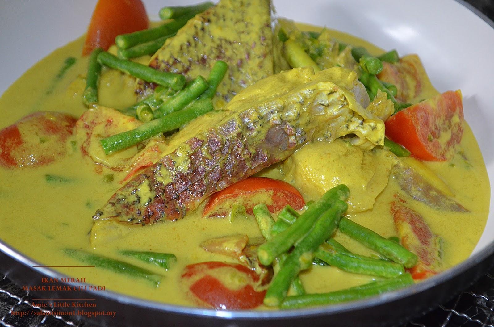 Amie S Little Kitchen Ikan Merah Masak Lemak Cili Padi