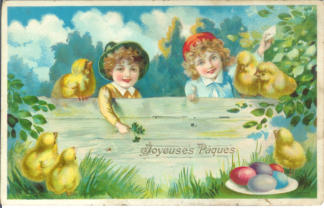 normandy life joyeuses paques vintage french easter cards. Black Bedroom Furniture Sets. Home Design Ideas