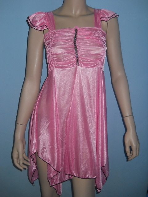 foto de FASHION CARE 2U: L990Satin Ruffle Sequins Pink