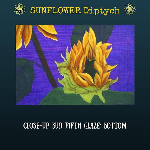 CLOSE-UP Fifth color glaze Bottom Sunflower Bud
