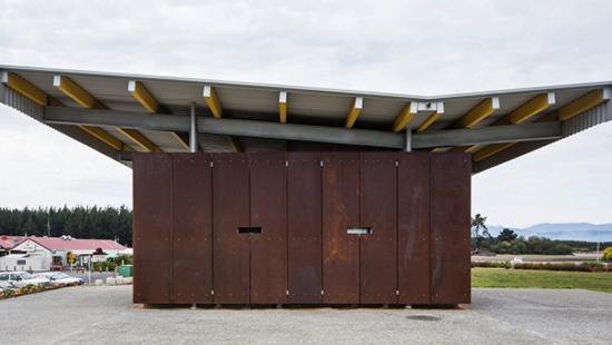 7 gambar model Desain inspiratif WC umum di taman kota