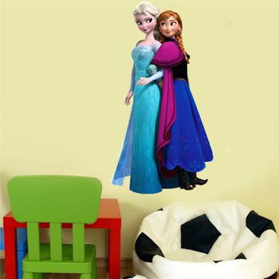 Contoh Dekorasi Wall Sticker 3D Pada Kamar Anak