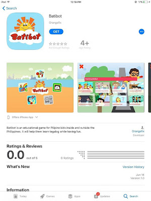 Batibot iOS App in Apple App store