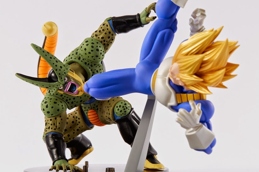 Cell e Vegeta SS Colorati della Banpresto