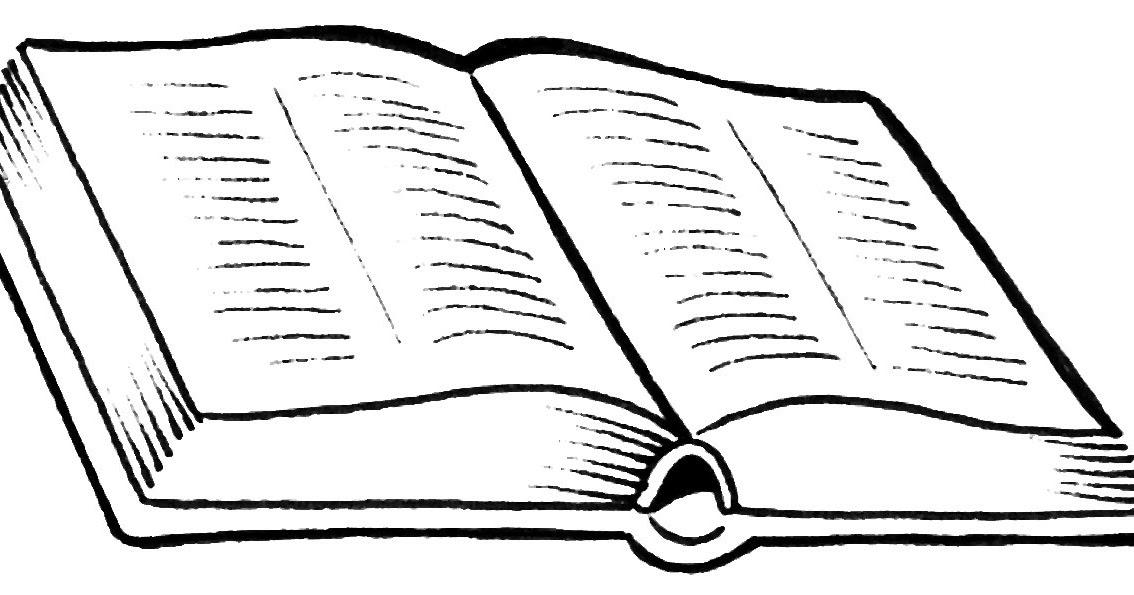 Dibujos Cristianos: Biblia Abierta Para Colorear