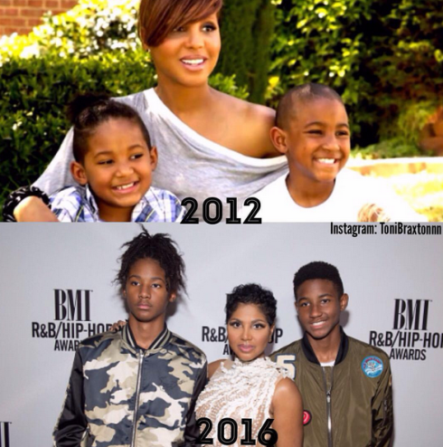 Toni Braxton's sons have grown into handsome young men (photos)