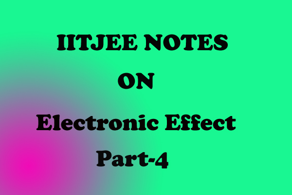 Electronic Effect chemistry