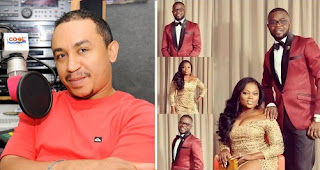 Daddy freeze congratulates Funke Akindel on her twin pregnancy, reminds her of his prophesy