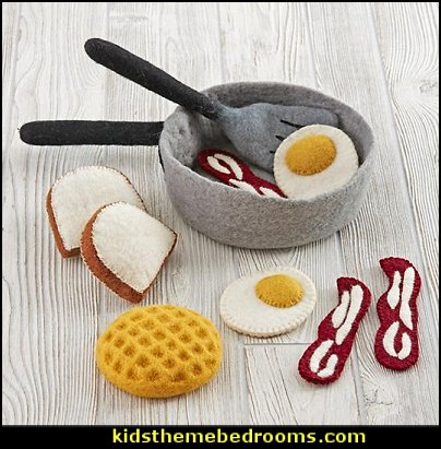 Over Easy Breakfast Set  Happy Camper little boys outdoor theme bedroom - tree wall decal - dog wall decal stickers - treehouse bed - girls treehouse theme bedrooms - camping room decor - camping theme room