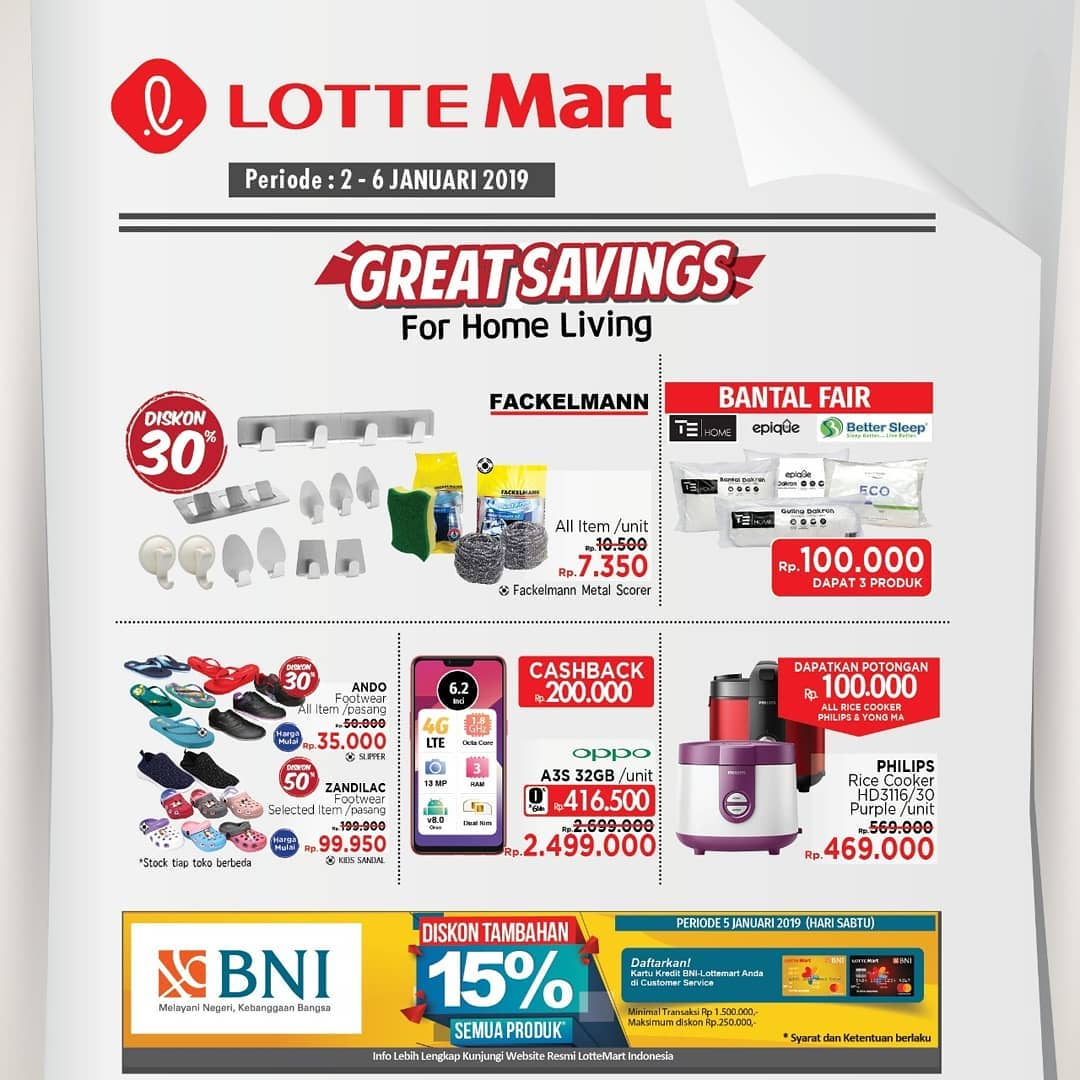 #LotteMart - Promo Katalog Weekend Periode 02 - 06 Januari 2019