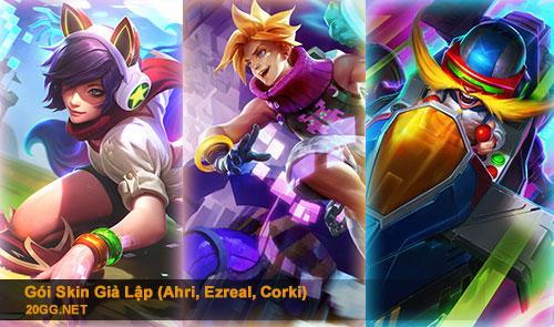Gói Giả Lập mới bao gồm Ahri, Ezreal và Corki thumbnail