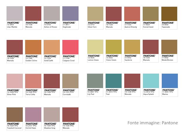 palette di colore con il Marsala