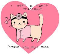 Doctor Cutie Pie kitten needs heart transplant you stole mine cat love Valentine vet sweet