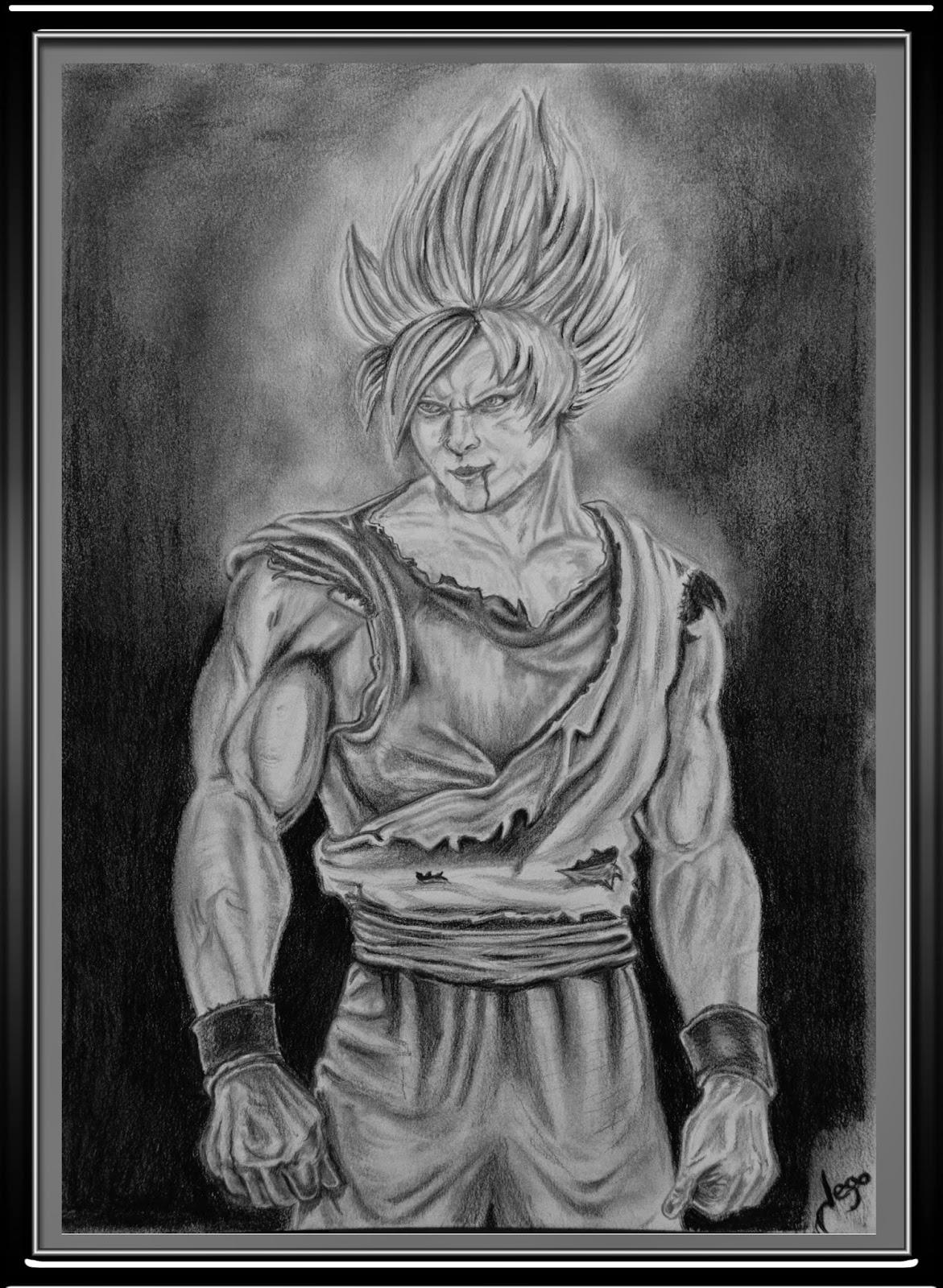 Retratos Realistas Y Dibujos Goku Dibujo A Lapiz Por Jego