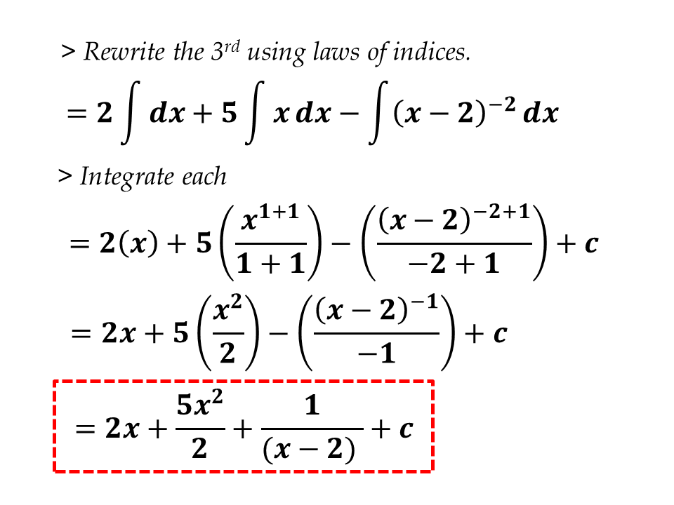 INDEFINITE INTEGRAL - CIE Math Solutions