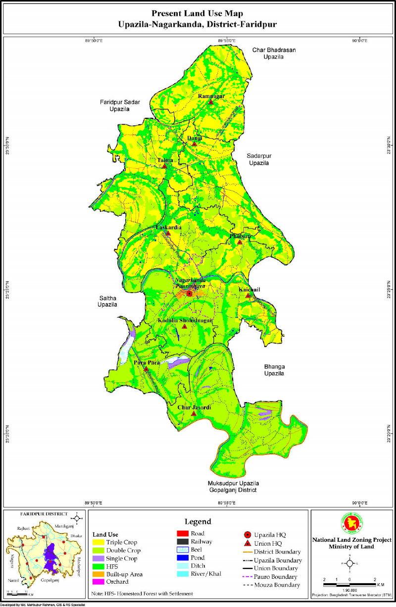 Nagarkanda Upazila Mouza Map Faridpur District Bangladesh