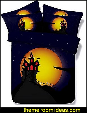 Chic Halloween Castle Digital Printing 4-Piece Duvet Cover Sets