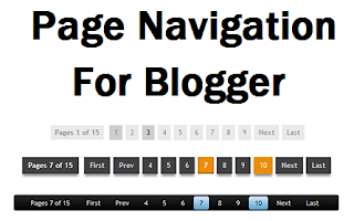 How to Add Page Number Navigation in Blogger with Pictures