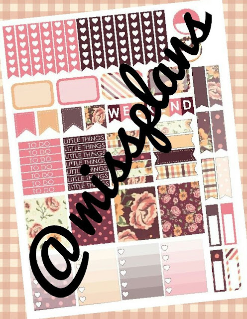 glam fall floral free planner printable