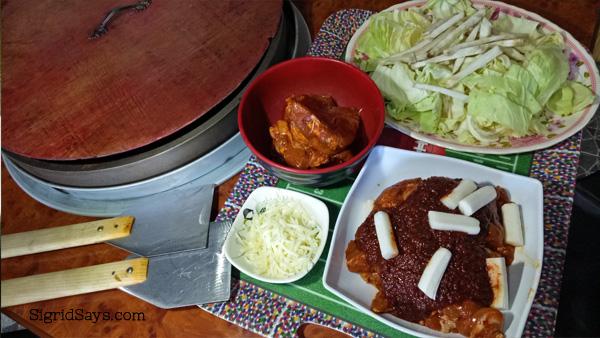Dak Galbi at Korean Grill Bacolod restaurant