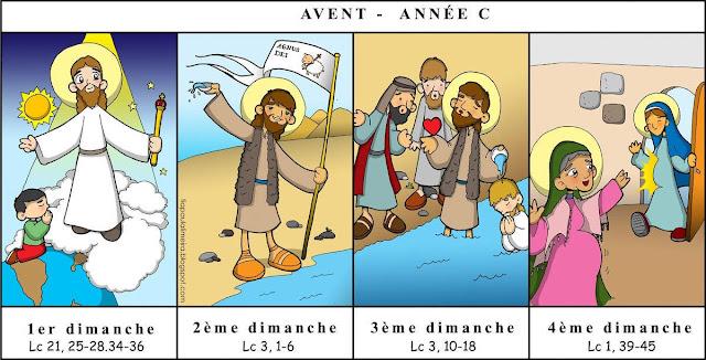 Les Textes liturgiques de l'Avent, année C saint Luc