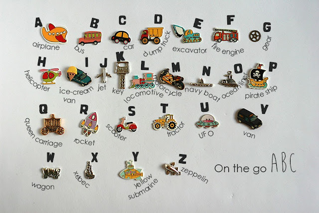 Transportation themed language objects for I spy bag bottle by TomToy