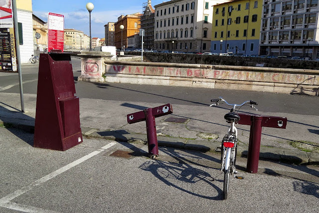 Bike sharing station, Piazza Cavour, Livorno
