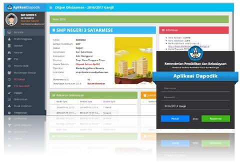 Melihat dan Mengecek Progres Pengiriman Sinkronisasi Data Dapodik 2016/2017 di Website dapo.dikdasmen.kemdikbud.go.id