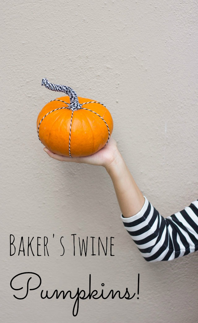 Pumpkin decorating ideas - wrap the stem in baker's twine for a modern look! http://designimprovised.com
