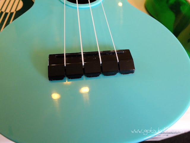 Makala Waterman Soprano Ukulele bridge