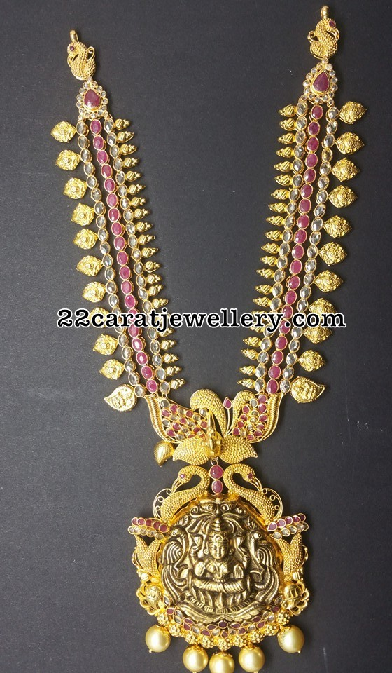 Uncut Diamond Ruby Lakshmi Long Set