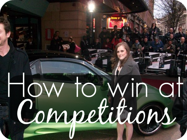Top tips on winning competitions