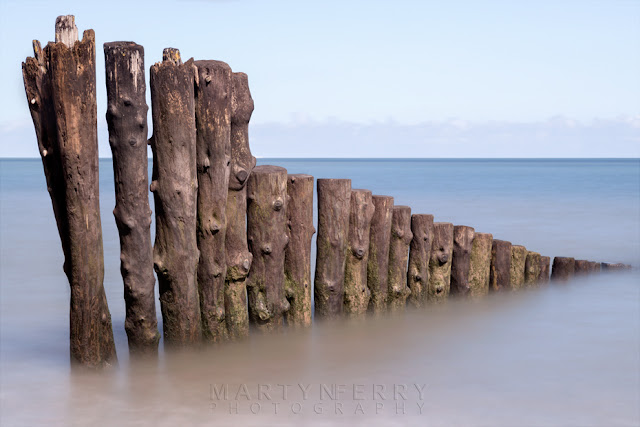 Porlock Weir groynes in Exmoor National Park by Martyn Ferry Photography