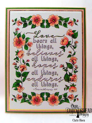 Our Daily Bread Designs: God's Blessings Coloring Pages, Custom Dies: Pierced Rectangles