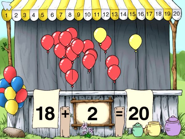 Number Balloons with Piglet to learn beginning math