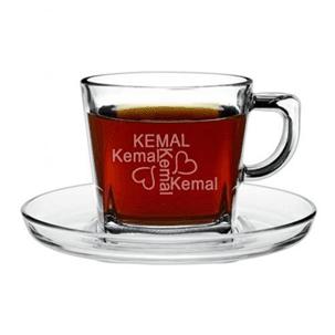 isim Yazılı Çay Bardakları