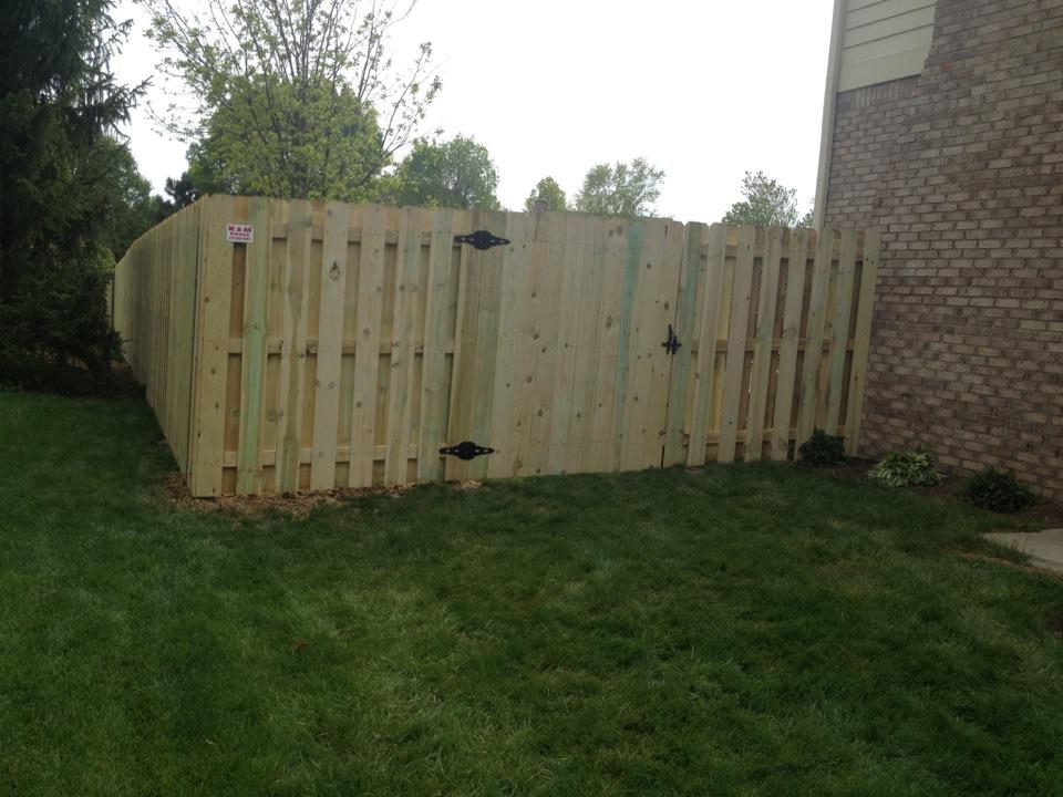 K Amp M Fence 6 Tall Shadow Box Privacy Fence Using