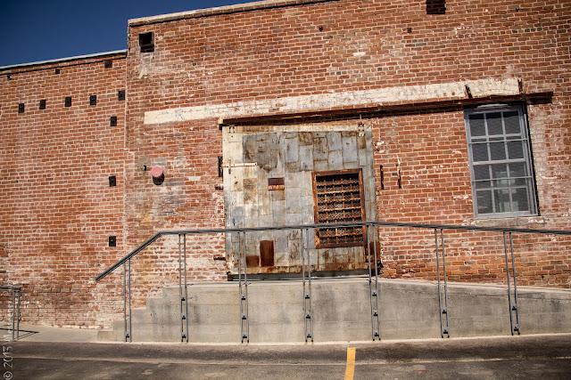 mesh grate window door brick
