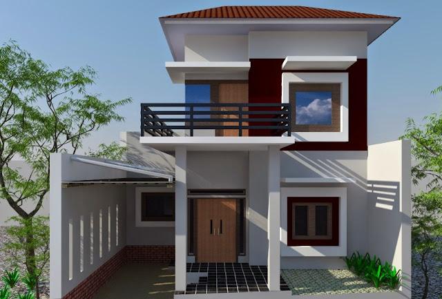 desain rumah mungil minimalis 2 lantai 2015