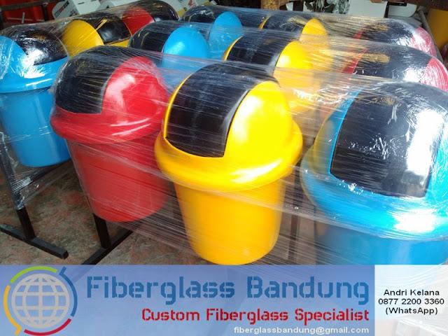 tong sampah fiber model silinder