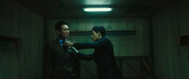 Han Jae-Ho (Kyung-Gu Sol) et Jo Hyun-Su (Si-Wan Yim) dans Sans pitié de Byun Sung-Hyun