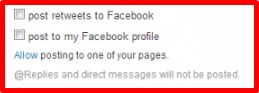 how to connect my twitter account to my facebook fan page