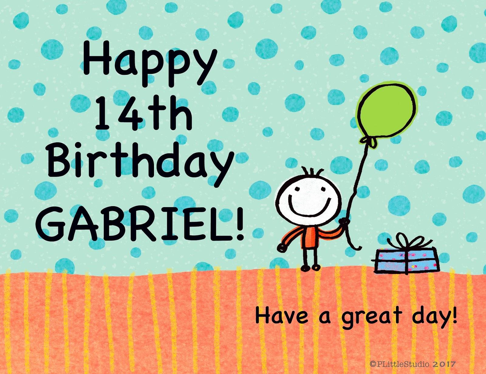 happy birthday gabe P Little Studio: HAPPY BIRTHDAY GABRIEL! happy birthday gabe