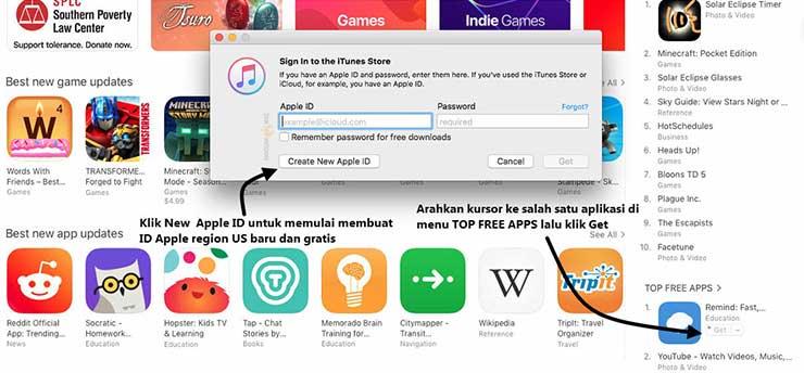 Cara Membuat ID Apple Region US Baru dan Gratis Tanpa Kartu Kredit ataupun VPN di iTunes